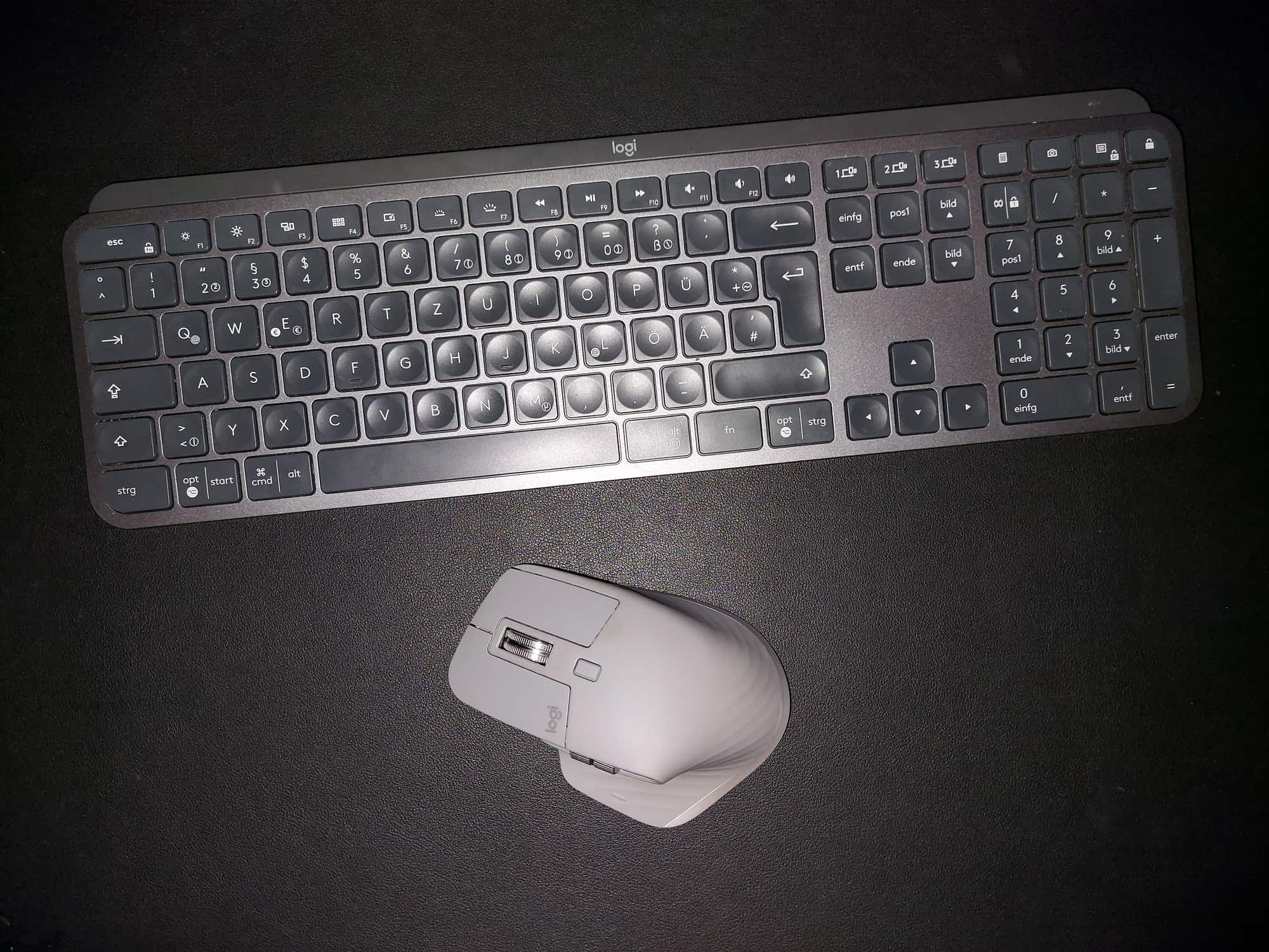 The Logitech MX Keys and MX Master 3